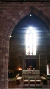 Light through church window